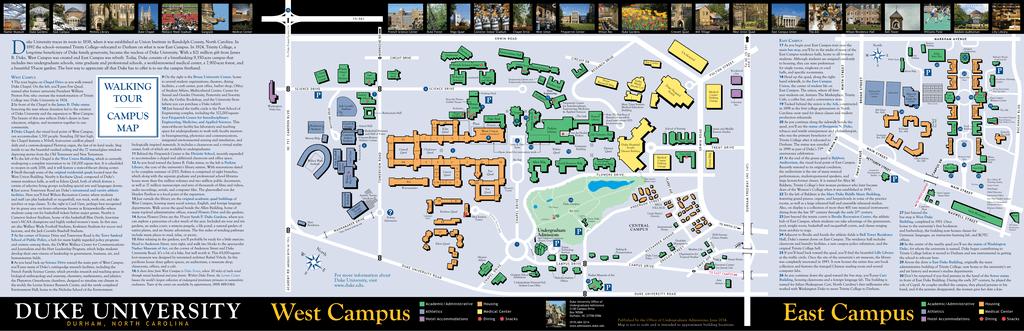 East Campus West Campus Duke Admissions - Duke west campus map