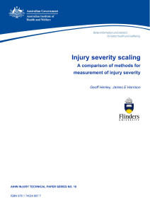 Injury severity scaling - Australian Institute of Health and Welfare