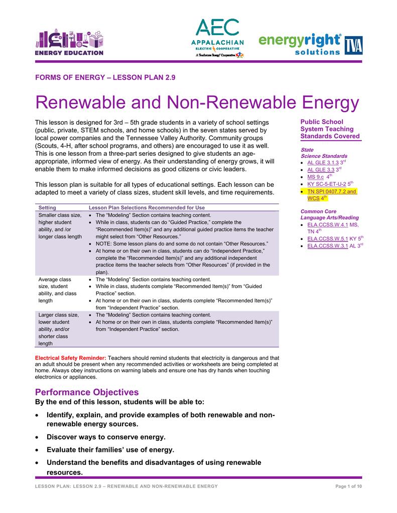 worksheet Renewable And Nonrenewable Resources Worksheets renewable and non energy