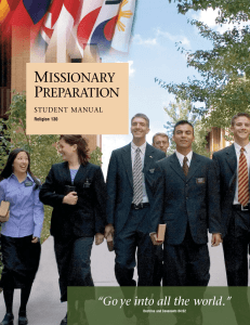 Missionary Preparation Student Manual (Religion 130)
