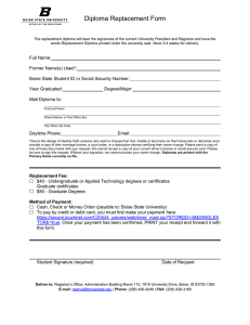 replacement diploma order form - Office of the Registrar