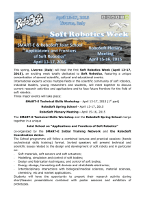 This spring, Livorno (Italy) will host the first Soft Robotics Week (April