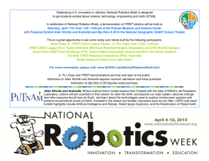 Celebrating U.S. innovation in robotics, National Robotics Week is