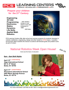 National Robotics Week Open House!
