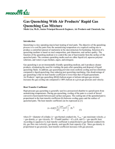 Gas Quenching With Air Products` Rapid Gas Quenching Gas Mixture