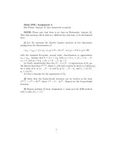 Math 270C: Assignment 2 Due Friday, January 27 (late homework
