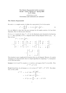 Notes on the Matrix Exponential