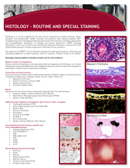HISTOLOGY - ROUTINE AND SPECIAL STAINING
