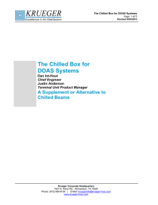 The Chilled Box for DOAS Systems - Krueger-HVAC