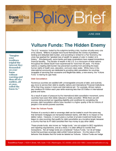 Vulture Funds: The Hidden Enemy