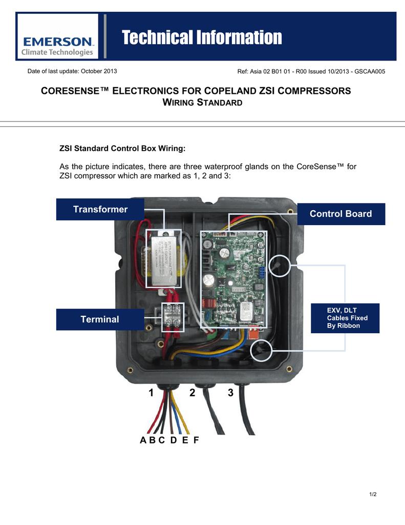 Copeland Controller Wiring Free Download Oasis Model Pfse1shs Diagram Scroll Zsi Compressor