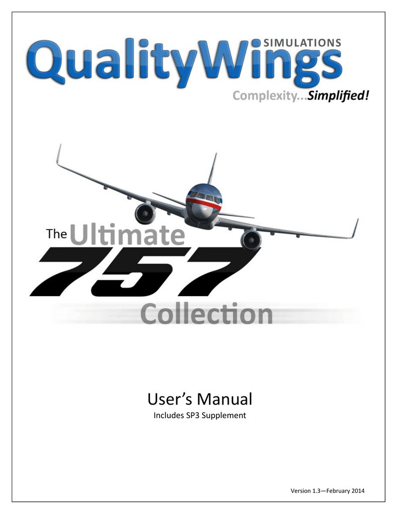 to the Ultimate 757 Manual