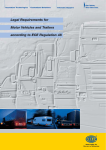 Legal Requirements for Motor Vehicles and Trailers