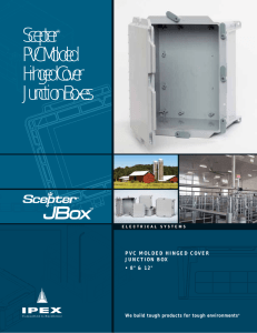 Scepter® PVC Molded Hinged Cover Junction Boxes