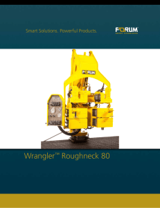 Wrangler™ Roughneck 80 - Forum Energy Technologies