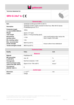 Technical datasheet - SRV-G 24x7 tc