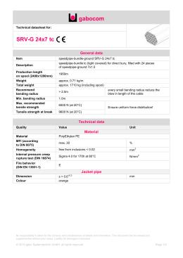 Technical datasheet - SRV-G 24x7 tc