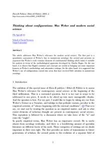 Thinking about configurations: Max Weber and modern social science