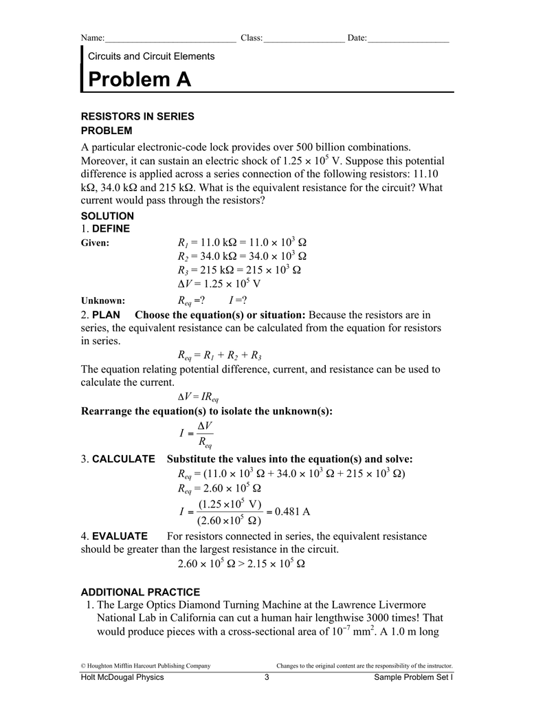 Solved: college physics i 237-03 sample problems (chapter.