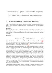 Introduction to Laplace Transforms for Engineers