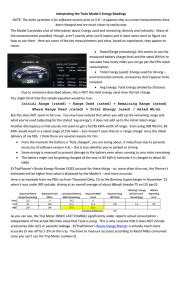 Interpreting the Tesla Model S Energy Readings