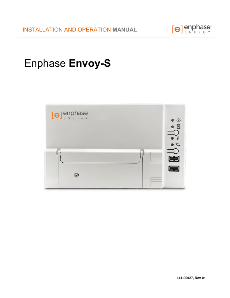 Envoy-S Installation and Operation Manual