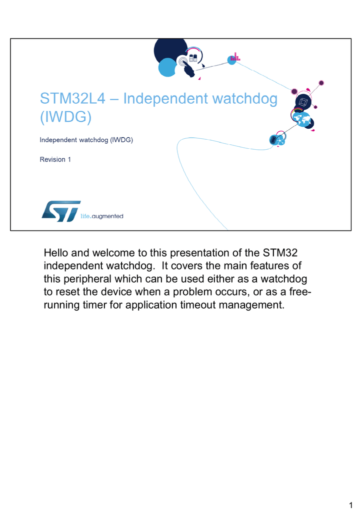 Hello and welcome to this presentation of the STM32 independent