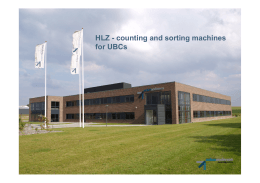 HLZ - counting and sorting machines for UBCs