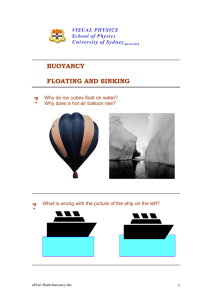 BUOYANCY FLOATING AND SINKING