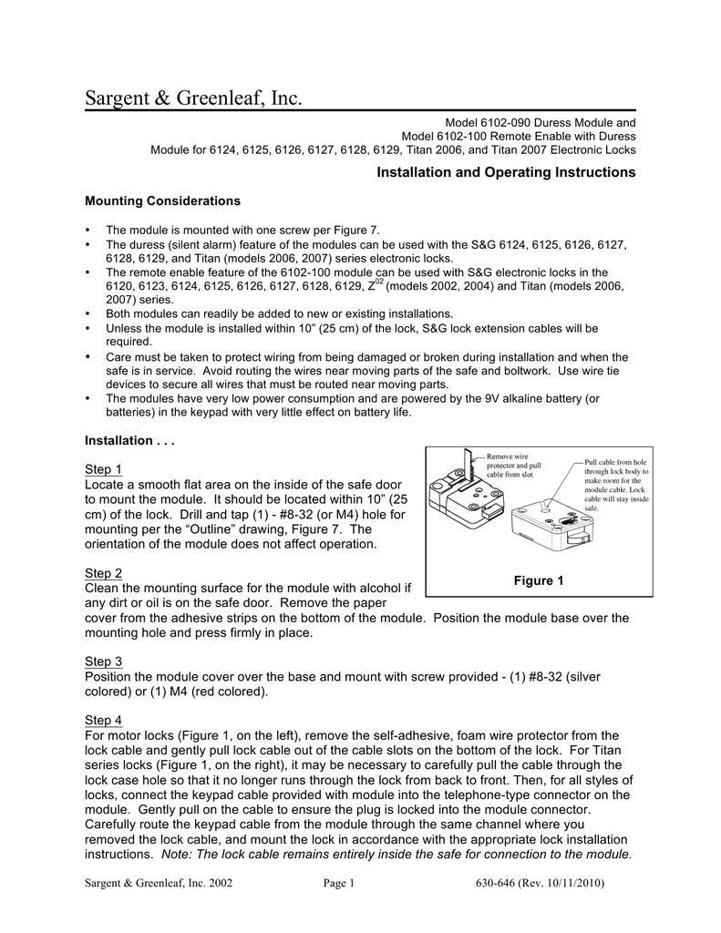 WRG-4669] Sargent And Greenleaf Safe Wiring Diagram