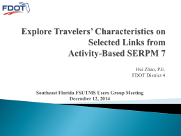 Explore Travelers` Characteristics on Selected