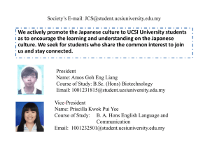 We actively promote the Japanese culture to UCSI University