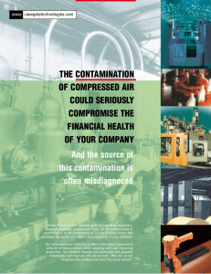 THE CONTAMINATION OF COMPRESSED AIR COULD