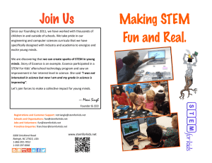 Making STEM Fun and Real. Join Us