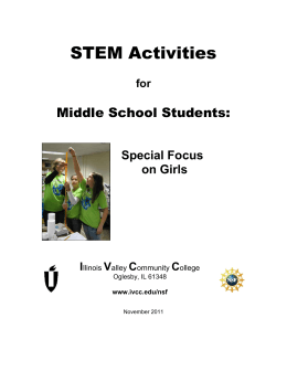 Handbook of STEM Activities for Middle School