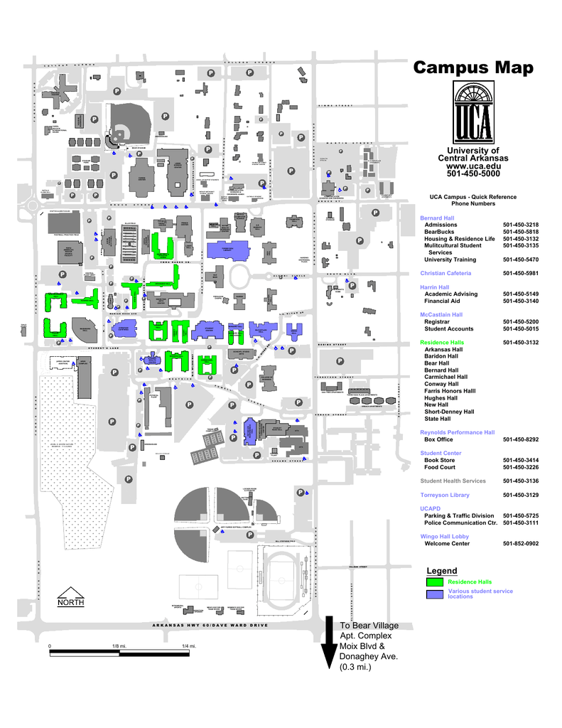 UCA Campus Map - UCA Physical Plant