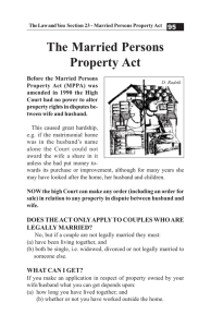 The Married Persons Property Act