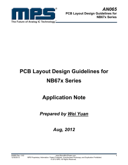 AN065 PCB Layout Design Guidelines for NB67x Series