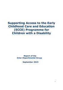 Supporting Access to the Early Childhood Care and Education