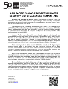 asia pacific shows progress in water security, but challenges remain