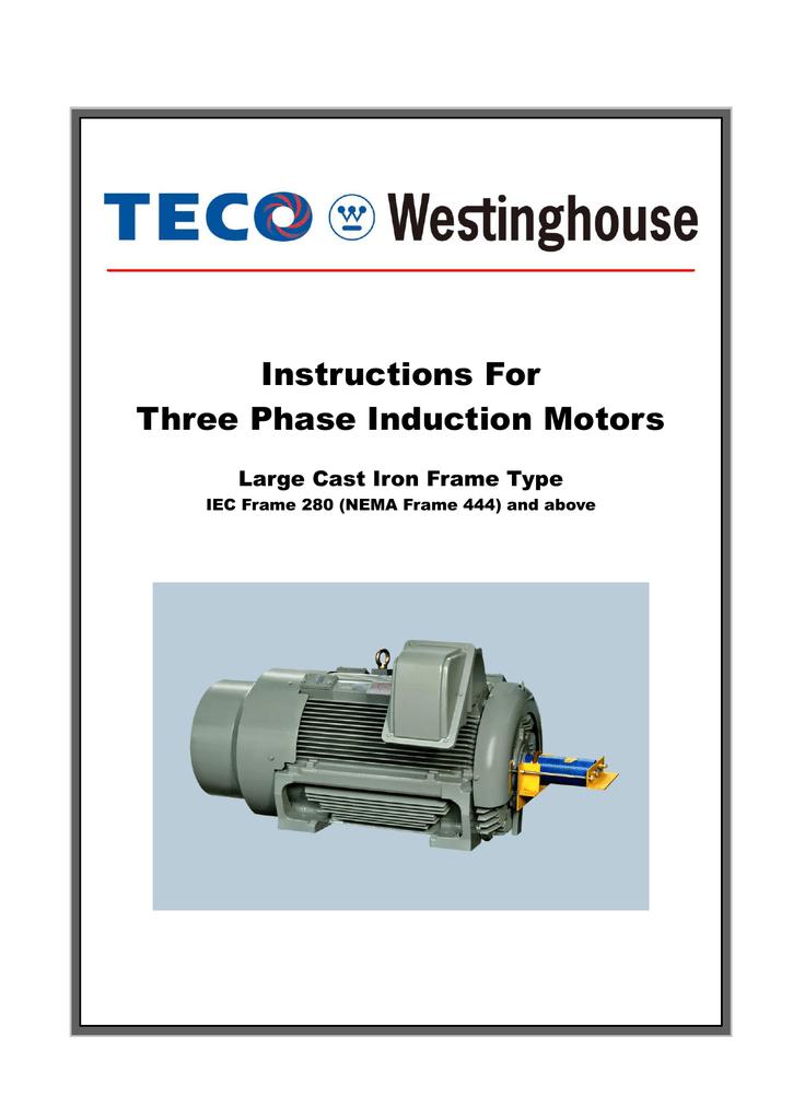 manual  tecowestinghouse motors canada inc