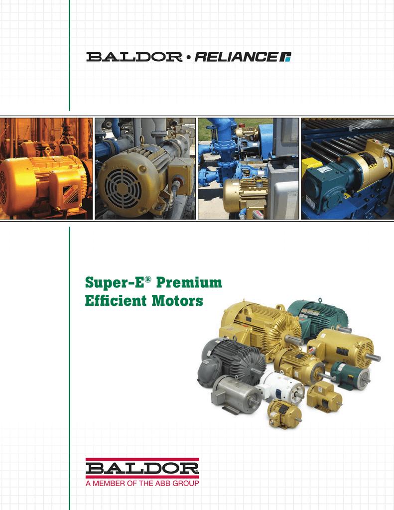 Super-E® Premium Efficient Motors on
