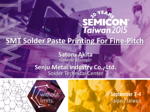 SMT Solder Paste Printing For Fine-Pitch