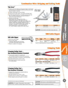 Combination Wire-Stripping and Cutting Tools