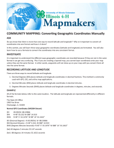 Community Mapping, Converting Geographic Coordinates Manually
