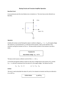 Base Bias Circuit