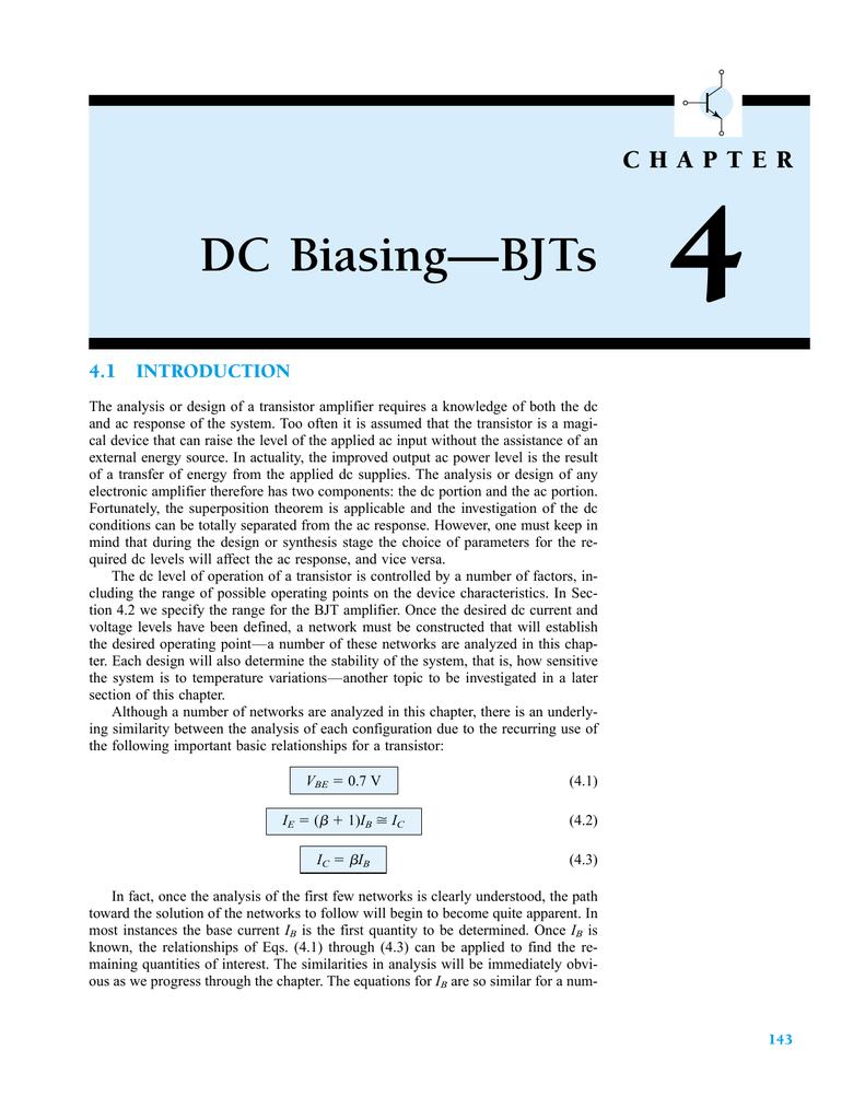 Dc Biasingbjts Circuit Analysis Voltage Divider Part 1