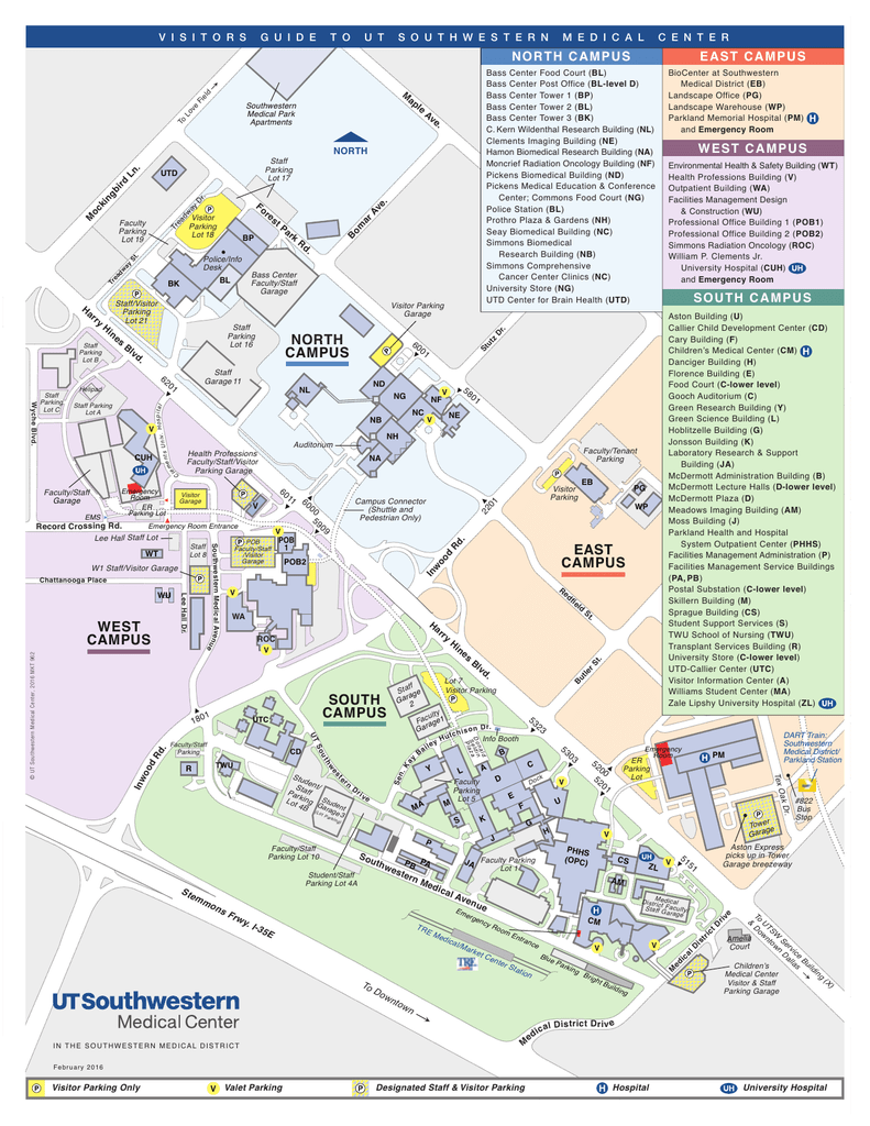 Campus Map   UT Southwestern, Dallas, TX