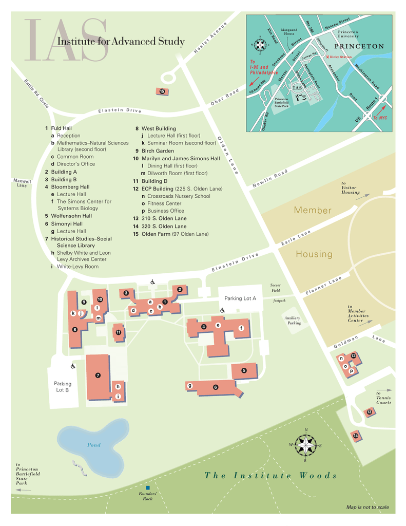 Campus Map - Institute for Advanced Study