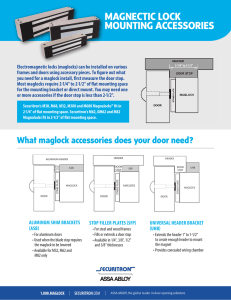 MagLock Mounting Accessories